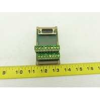 Altech 1.315/F Terminal Block Circuit Adaptor DB15 Sub Miniature Connector