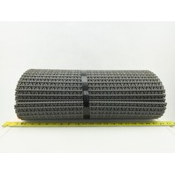 "Intralox Series 1100 Flush Grid Friction Top Plastic Conveyor Chain Belt 20""x12'"