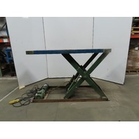 "4500LB Cap Hydraulic Scissor Lift Table 72x30"" top 49"" hi 115V 1PH Single Phase"