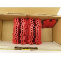 Conta Clip RK2.5-4 40A 600V DIN Mount Terminal Blocks Red Lot Of 27