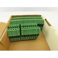 Conta Clip 100 RK 2.5-4 40A 600V Green DIN Electrical Terminals Lot Of 33