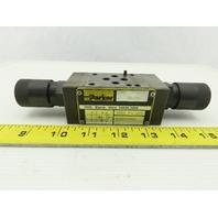 Parker FM2DDDKV55XB502 4 Port Hydraulic Flow Control Sandwich Valve 5000 PSI