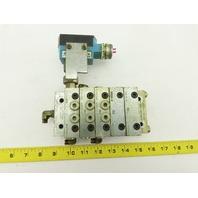 Lubriquip MSP-40T & MSP-20S 5 Station Liquid Divider Auto Lube Manifold Block