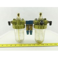 "3/8""NPT Pneumatic Airline Lubricator Lot of 2"
