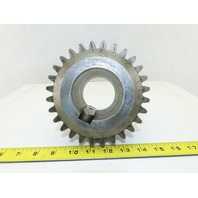 150mm OD x 40mm Wide 28T 17mm Pitch Spur Gear 70mm Bore 110mm Bore Length