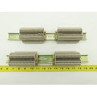 """Weidmuller WDU2.5 DIN Rail W/36 Terminal Block Strip 14"""" OAL Lot of 2"""