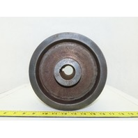 "8-13/16"" OD 9 Groove 3V Type Belt Pulley Sheave 1-3/8"" Bore"