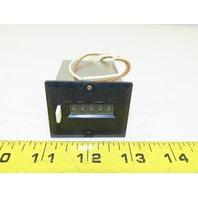 Line Seiki MCH-5PUL 24VDC 5 Digit Magnetic Counter Manual Reset