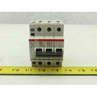 ABB S 23 3 Z63A VDE 0660 3 Pole Circuit Breaker 277/480V W/Aux Contact