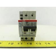 ABB S 282 UC K63A VDE 0660 2 Pole Circuit Breaker 277/480V W/Aux Contact
