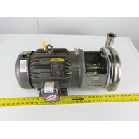 "Tri-Clover 218ME18T-S 3"" x 1-1/4"" Stainless Steel Centrifugal Pump 3Hp 3Ph"