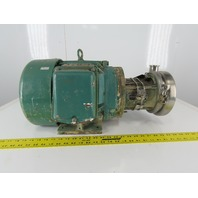 "Tri-Clover 2"" x 1-1/2"" Stainless Steel Centrifugal Pump 7.5Hp 3Ph"
