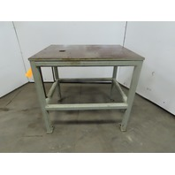 "36""x27""x33-3/4""x 3/4"" Machined Top Steel Machine Base Welding Work Bench Table"