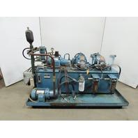 100 Gallon Hydraulic Power Unit 4 Pumps & 4 Motors 230/460V 3Ph
