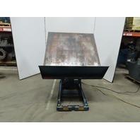 """4000LB Hydraulic 0-45° Scissor Lift Tilt Table Upender 11""""-26"""" Height 115V 1Ph"""
