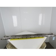Size 65 Linear Guide Rail 65mm x 53mm 150mm Hole Centers 1998mm Set of 2