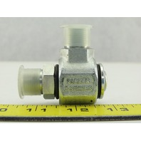 "Parker S2101-6-6 S Series Hydraulic Swivel Fitting, 90° Elbow 3/8x3/8"" NPT"