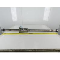 "THK KX 30140 50mm Ball Screw 10mm Lead 2 T/I  Ball Nut 835mm Travel 52"" OAL"
