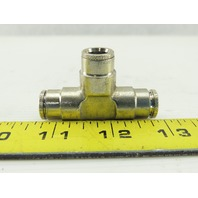 "3/8"" x 3/8""x3/8"" Tube Push-to-Connect Tee Pneumatic Fitting Stainless Steel"