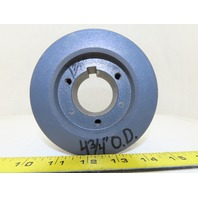 """Browning 3TB44 Fixed Pitch Sheave Pulley 3 Groove 4.75"""" Diameter P1Bushed Bore"""