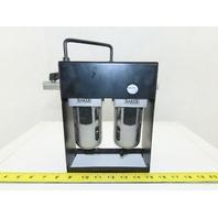 """Baker C8133 Pneumatic Air Twin Filter 10 Bar Max 1/4"""" Npt"""