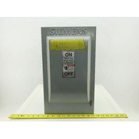 Siemens HF362 Type 1 600V AC/DC 60A 30Hp Fused Safety Disconnect
