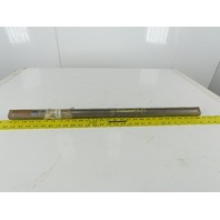 "Dematic C707402285 1-7/16"" OD x 28-1/2"" OAL Solid Steel Shaft End Flats"