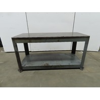 "Heavy Duty Industrial Machine Base Welding Robot Table 30x72x37"" 1-1/4"" Thick"