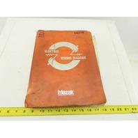 Mazak Mazatrol Cam M2-B 48322WB Electrical Wiring Circuit Diagram Manual Logic