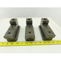 Square Serrated Chuck Hard Master Jaw W/ Top Jaw Set of 3