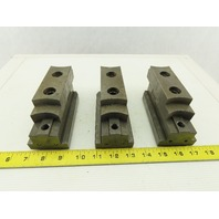 Square Serrated Chuck Hard Master Jaw W/ Top Jaw See Info Set of 3
