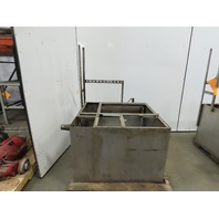 """135 Gallon Stainless Steel Open Top Baffled Tank 36"""" x36""""x24"""""""