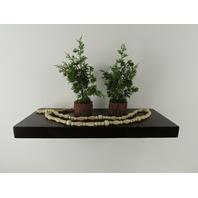 "11"" Deep Oak Wood Floating Shelf 30"" Kitchen Bathroom 2-1/4"" Thick Made in US"