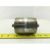 """Stainless Crowned Conveyor Take-up Roller Tail Pulley 3"""" OD 3-1/4""""W 5/8"""" Shaft"""