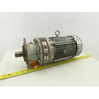 Sumitomo CNVMS1-6100YC-29 1Hp Inline Gear Motor 29:1 Ratio 60.3RPM 230/460V 3Ph