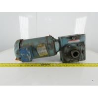 Boston Gear 1-1/2Hp Speed Reducer Gear Motor  20:1 W/Baldor VM3557T 230/460V 3Ph