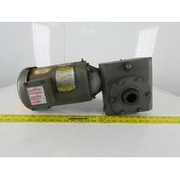 Boston 1-1/2Hp Speed Reducer Gear Motor  20:1 W/Baldor VM3554T 208-230/460V 3Ph