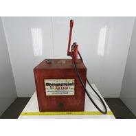 Gasboy Super Jet 50 Gallon Fluid Fuel Holding Tank W/ Manual Transfer Pump