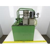 Nippon TOP-203LE Hydraulic Power Unit 0.4kW 200/220V 3Ph 27 Gallon