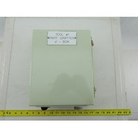 "Hoffman A1008CHFTC 8"" x 10"" x 4"" Type 12 Electrical Enclosure W/ Terminal Strip"