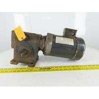 90° Right Angle Gear Motor 64:1 Ratio 27RPM 1Hp 208-230/460V 3Ph