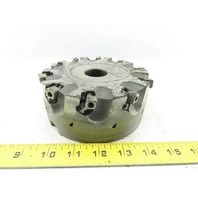 """Dijet SMC 5.010-10919 5"""" Indexable Face Mill Cutter 1-1/2"""" Arbor 10 Flute"""