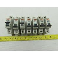 Merlin Gerin C60N 5A-Type C 277 Volt Circuit Breaker Lot of 7