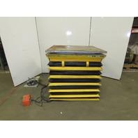 "American P36-040SF 3000Lb Hydraulic Scissor Lift Table 48x42"" Turn Top 115V 1Ph"