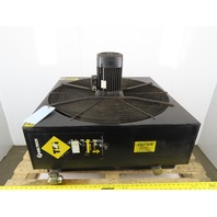 "Oiltech TBI 230/460V 50/60Hz 30""x30"" Air Compressor Oil After Cooler"