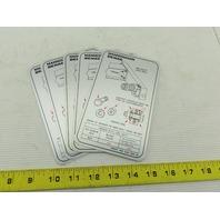 Mannesmann Bridge Crane Girder Assembly Instructional Sticker Lot Of 5