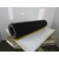 "48""W 2 Ply 11/32"" Thick Woven Back Rough Top Incline Conveyor Belt 12'"