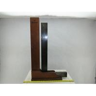 "Starrett No. 20 24-1/8"" x 10""  Steel 90° Machinist Welders Square W/ Wood Case"