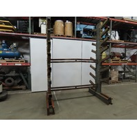 """106""""L x 70""""W x 12'T  Double Sided 8 Branch Cantilever Storage Rack"""