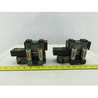 Festo ZP-D-1-24G Pneumatic Valve with Solenoid Block Lot of 2